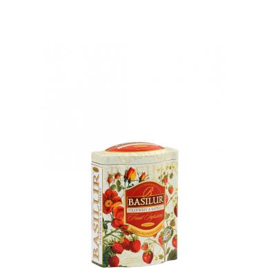 Basilur Fruit Infusions Strawberry & Raspberry 100g v plechovej dóze