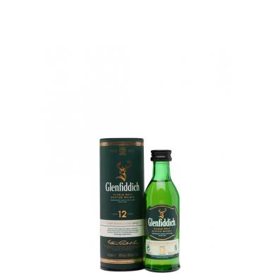 Glenfiddich 12 Y.O. MINI 0,05l 40% + tuba